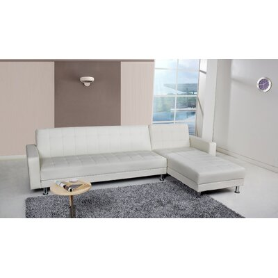 Spirit Lake Sleeper Sectional Upholstery: White