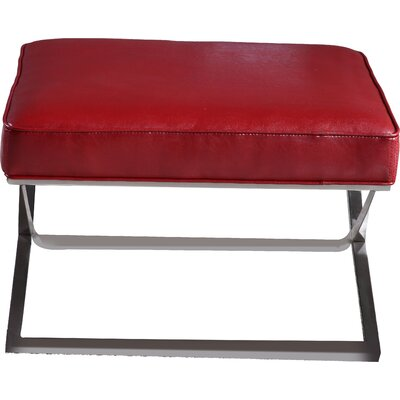 Cordova Bench Ottoman Upholstery: Red