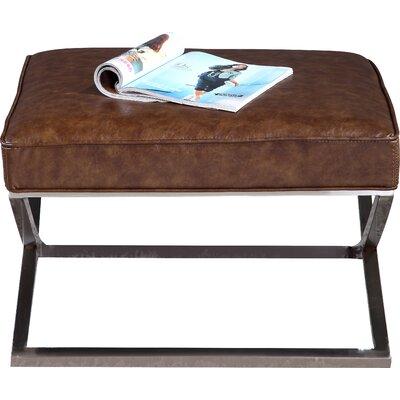 Cordova Bench Ottoman Upholstery: Brown