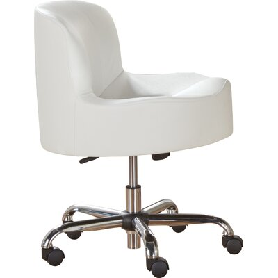 Brent Club Chair Color: White