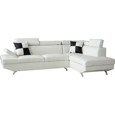 Wade Logan WADL3581 27051882 Geoffrey 2 Piece Sectional Sofa Upholstery