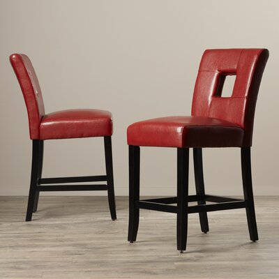 Atauro Island 24 Bar Stool Upholstery: Red