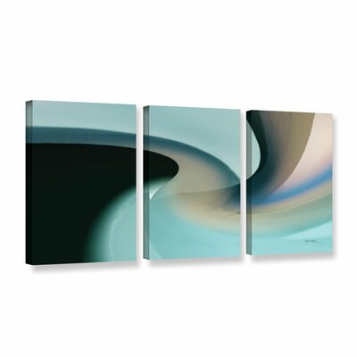 Movement 2 3 Piece Painting Print on Wrapped Canvas Set Size: 24