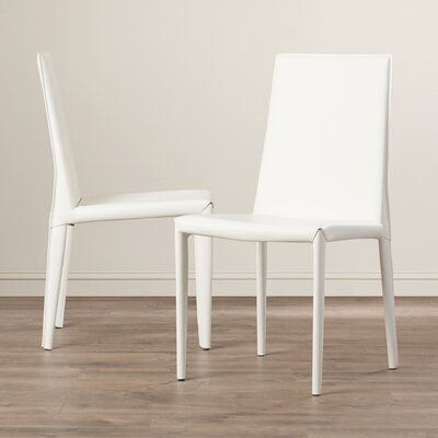 Cyrus Parsons Chair Upholstery: White