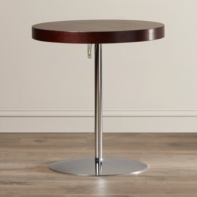Acosta Wood Adjustable End Table Finish: Wenge/Chrome