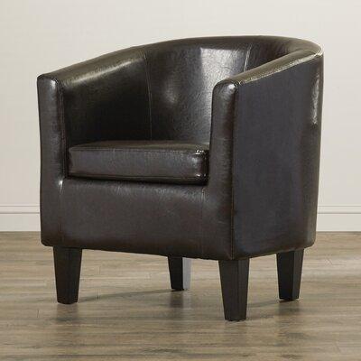 Olive Barrel Chair Color: Brown WADL3787 27437075