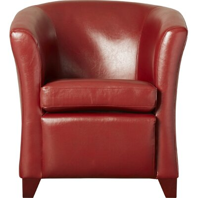 Apollo Leather Barrel Chair Color: Mulberry