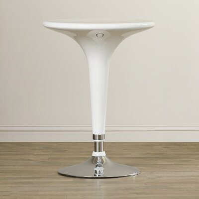 Lowell Adjustable Height Pub Table Color: White