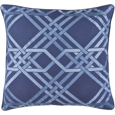 Mora Throw Pillow Size: 18 H x 18 W x 4 D, Color: Cobalt/Sky Blue