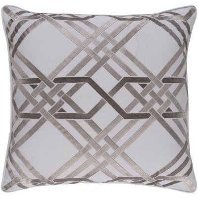 Mora Throw Pillow Color: Light Gray, Size: 18 H x 18 W x 4 D