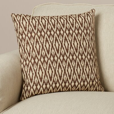 Garner Cotton Throw Pillow Color: Chocolate, Size: 20 x 20