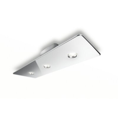 Macie 3-Light Semi Flush Mount Finish: Chrome