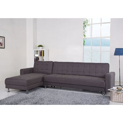 Spirit Lake Sleeper Sectional Upholstery: Gray