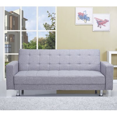 WADL4449 27933606 WADL4449 Wade Logan Frankfort Convertible Sleeper Loveseat