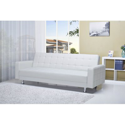 Spirit Lake Sleeper Sofa Upholstery: White
