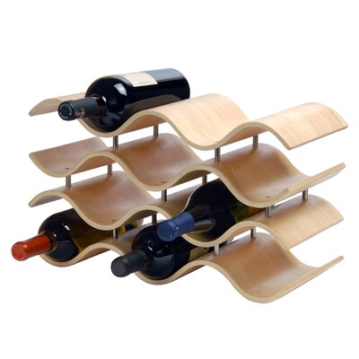 Ernesto 10 Bottle Tabletop Wine Rack Finish: Natural
