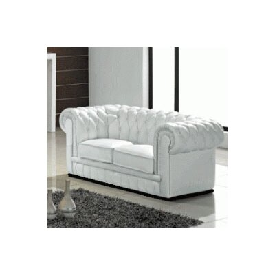 Botkin Leather Chesterfield Loveseat