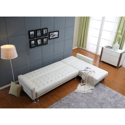 Bentley Reversible Chaise Sectional Upholstery: White