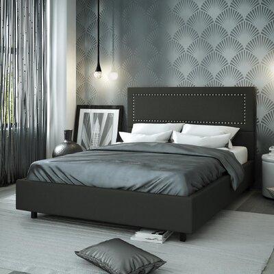 Pierre Upholstered Platform Bed Size: Full, Upholstery: Matte Charcoal Black