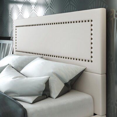 Pierre Upholstered Panel Headboard Upholstery: Beige, Size: Full