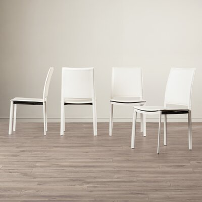 Darrin Side Chair Upholstery: White