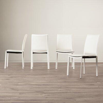 Darrin Side Chair Upholstery: White