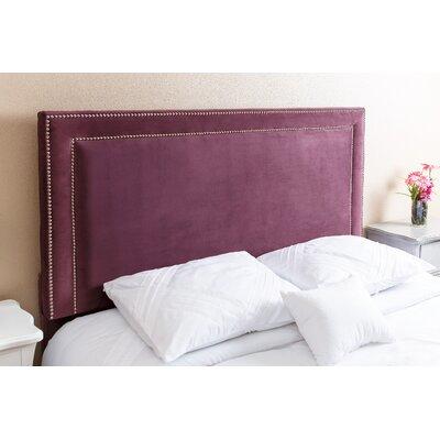 Full/Queen Upholstered Panel Headboard Upholstery: Purple