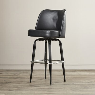 Marion 30 Swivel Bar Stool Upholstery: Red