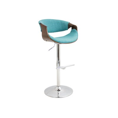 Lake Mary 24.5 Swivel Bar Stool Upholstery: Teal