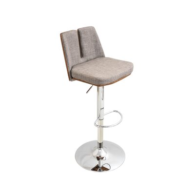 Cypress Gardens Adjustable Height Swivel Bar Stool Upholstery: Taupe