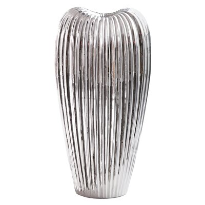 Ribbed Electroplated Ceramic Vase WADL4789 28204308