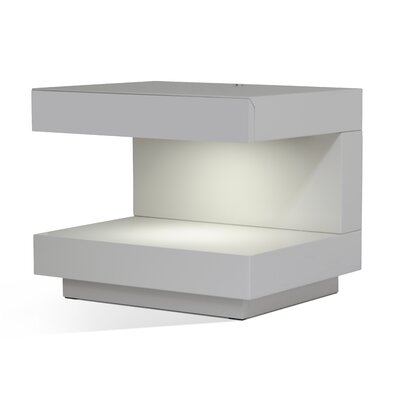 Fishback 1 Drawer Nightstand Color: White Glossy