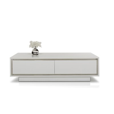 Coachella Contemporary Coffee Table Finish: White