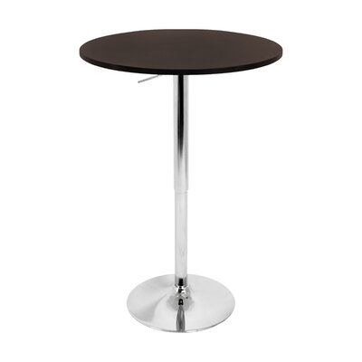 Oliver Adjustable Height Pub Table Top Finish: Brown