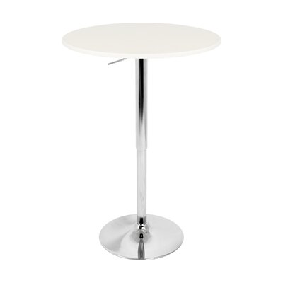 Oliver Adjustable Height Pub Table Top Color: White