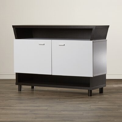 Harrell Multi Storage Server Color: Cappuccino / White