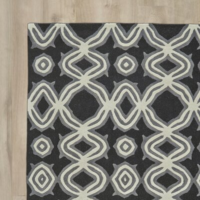 Cheyanna Hand-Tufted Black Area Rug Rug Size: Runner 26 x 8