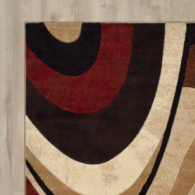 Ezekiel Brown/Beige Area Rug Rug Size: Runner 19 x 72