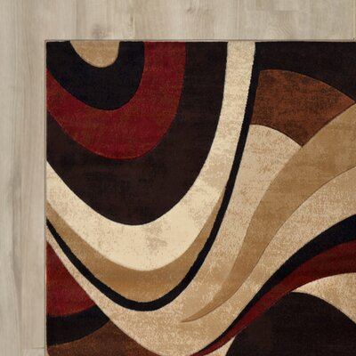 Ezekiel 3 Piece Brown & Cream Area Rug Set