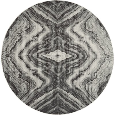 Birch/Sterling Area Rug Rug Size: Round 8