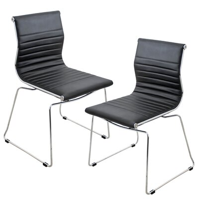 Warner Side Chair Upholstery: Black