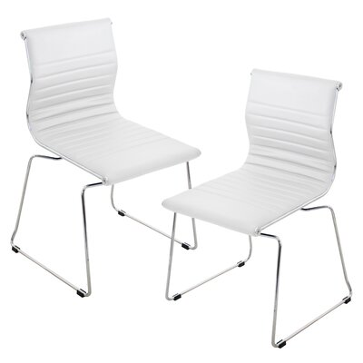 Warner Side Chair Upholstery: White