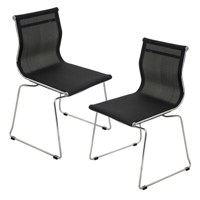 Carroll Side Chair Upholstery: Black