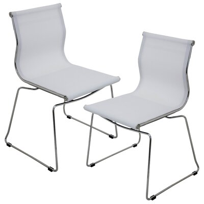 Carroll Side Chair Upholstery: White