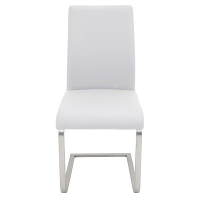 Crystal River Parsons Chair (Set of 2) Upholstery: White