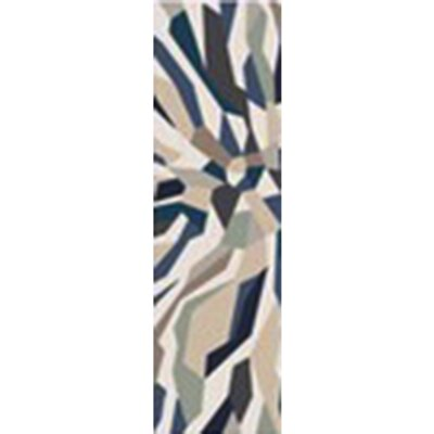 East Helena Teal/Navy Area Rug Rug Size: Runner 26 x 8