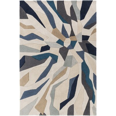 East Helena Teal/Navy Area Rug Rug Size: Rectangle 5 x 8
