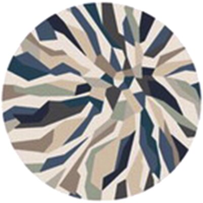 East Helena Teal/Navy Area Rug Rug Size: Round 8