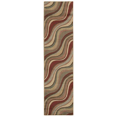 Cherell Brown/Beige Area Rug Rug Size: Runner 111 x 76
