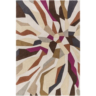 Beltran Hand-Tufted Multi Color Area Rug Rug Size: Rectangle 5 x 8